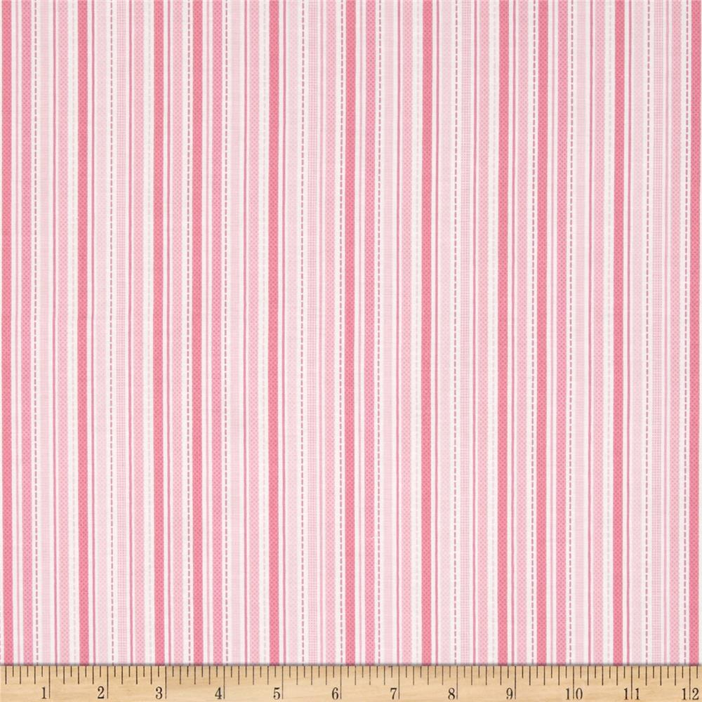 Riley Blake Sweet Baby Girl Sweet Stripes Pink