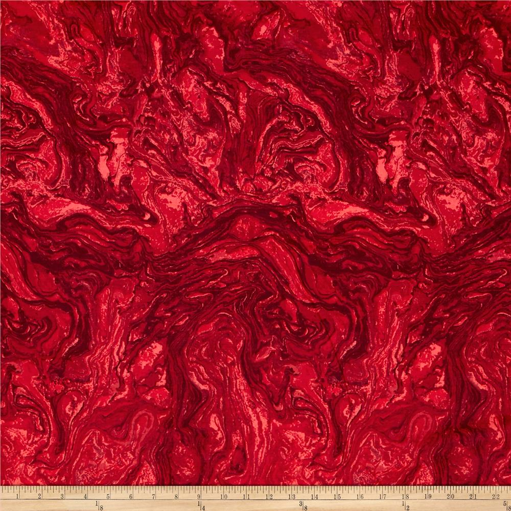 "118"" Wide Quilt Back  Marble Ruby Red"