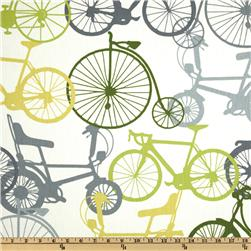 Duralee Home Ride Grey/Green Fabric