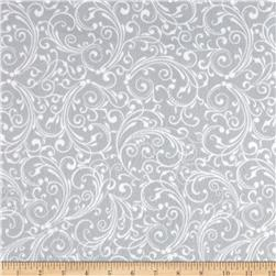 Holiday Frost Flannel Swirl Gray