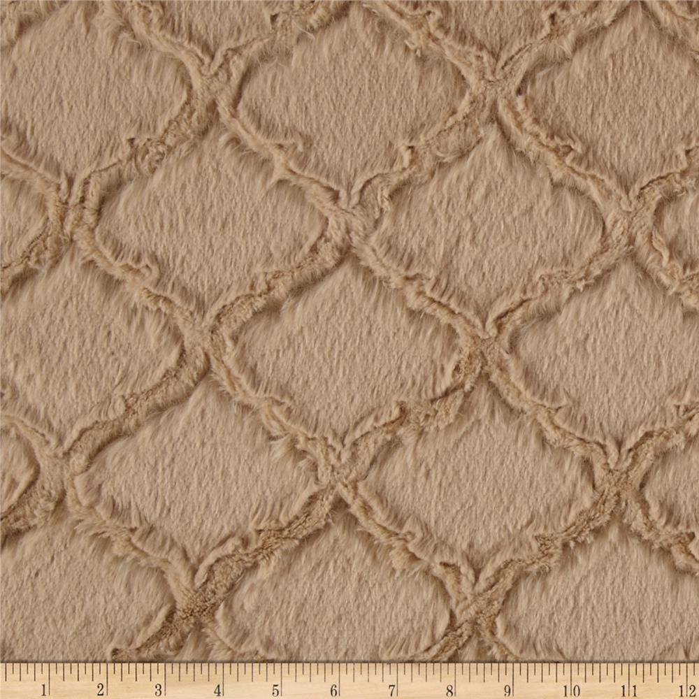 Shannon Minky Soft Lattice Cuddle Sand