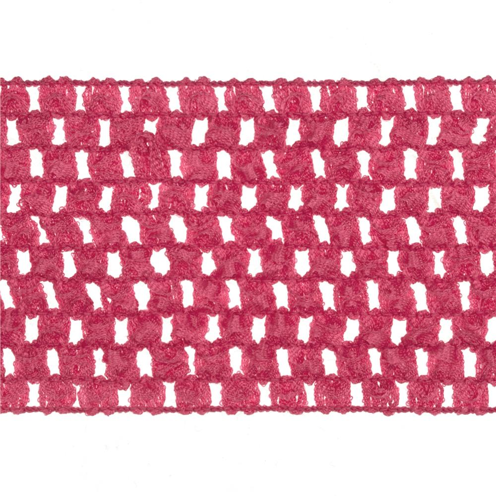 "2 3/4"" Crochet Headband Trim Hot Pink"