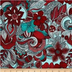 Valentina Floral Garden Celebration Blue/Red