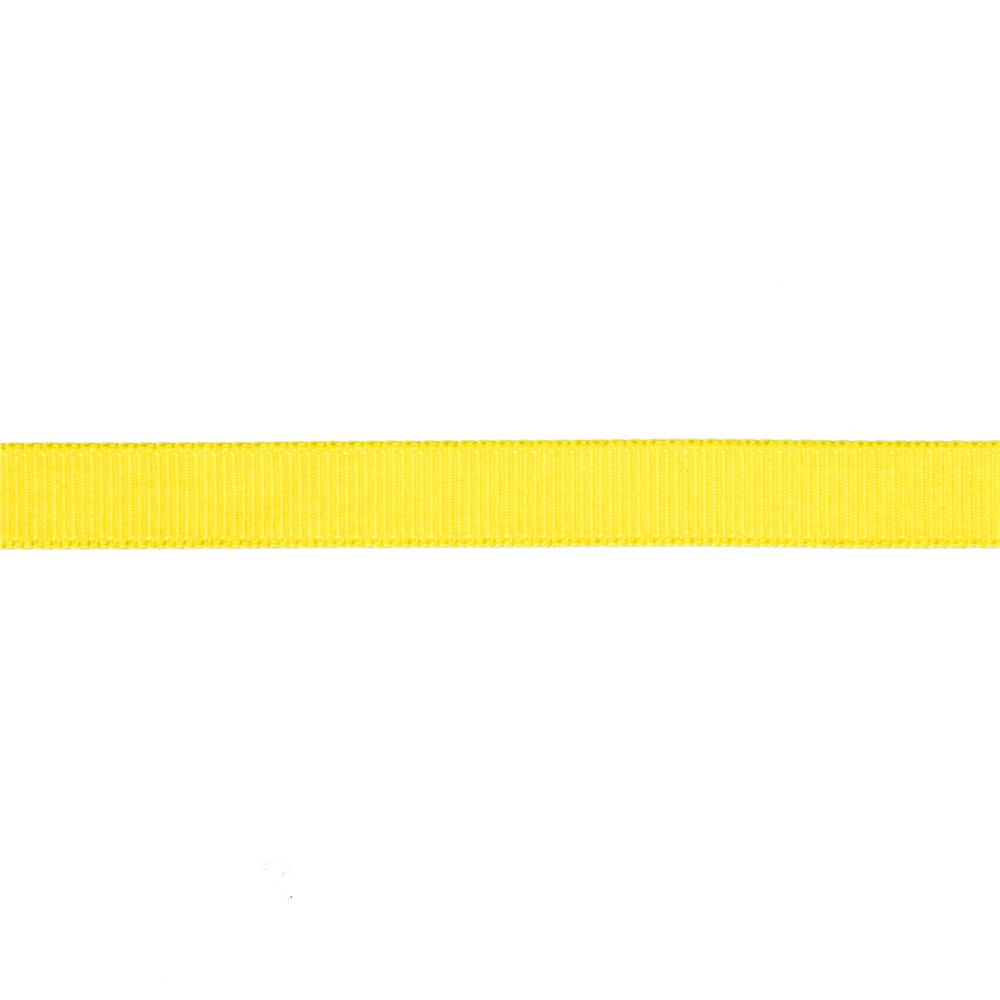 "May Arts 3/8"" Grosgrain Ribbon Spool Yellow"