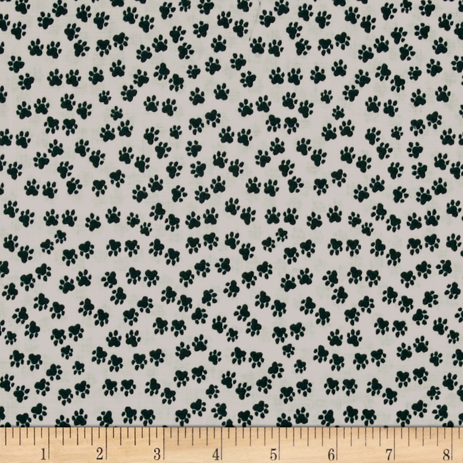 Hot Dogs & Cool Cats Organic Paws Cream Fabric