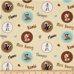 Disney Bambi Happy Together Character Badges Cream