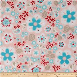 Riley Blake Twice as Nice Large Floral Pink
