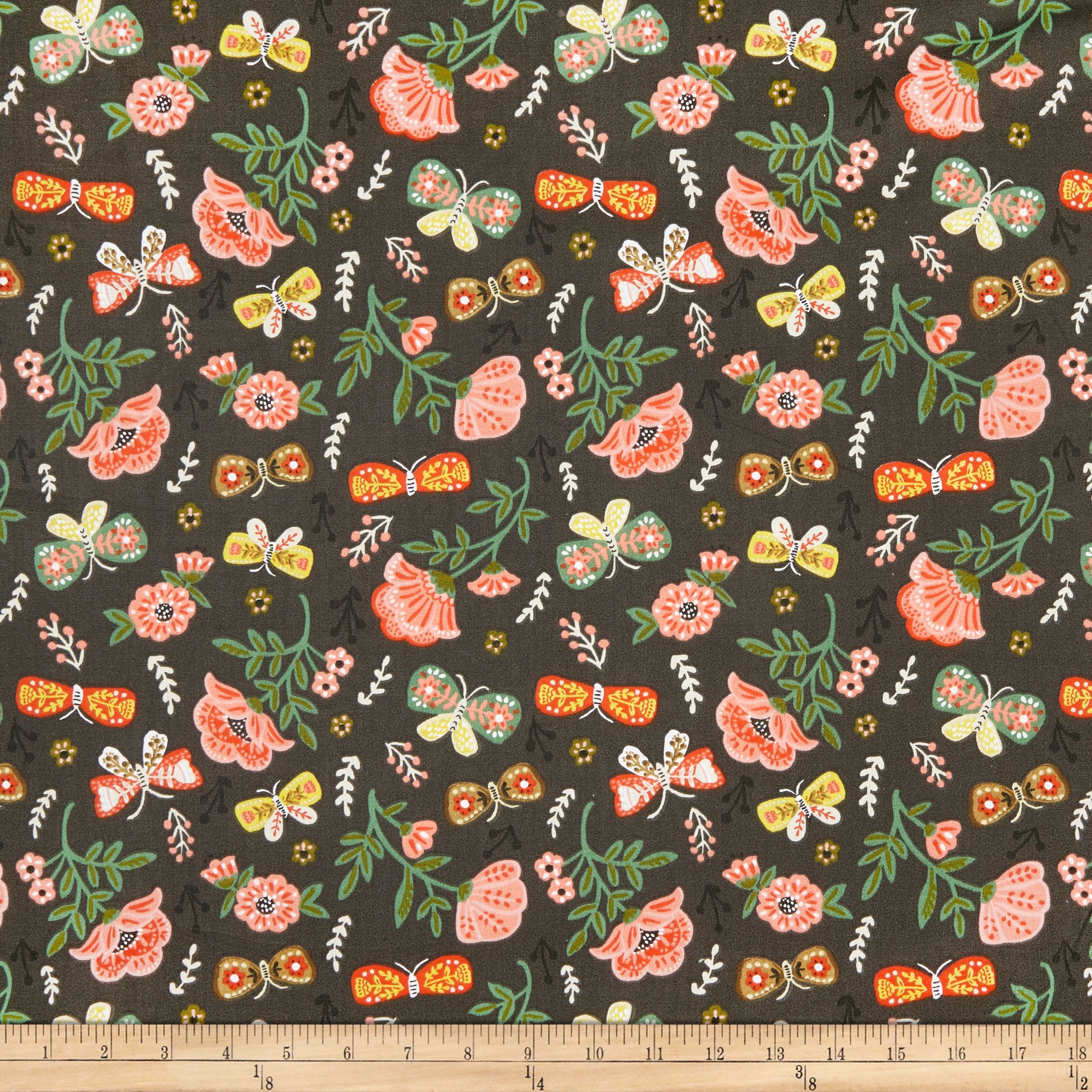 INOpets.com Anything for Pets Parents & Their Pets Fabric Editions Glorious Garden Flower And Butterflies