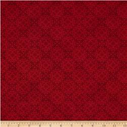 Holiday Magic Damask Red
