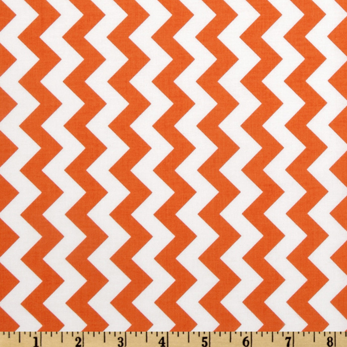 Riley Blake Chevron Small Orange Fabric