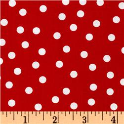 Remix Polka Dots Red Fabric