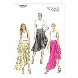 Vogue Misses' Skirt Pattern V8908 Size A50