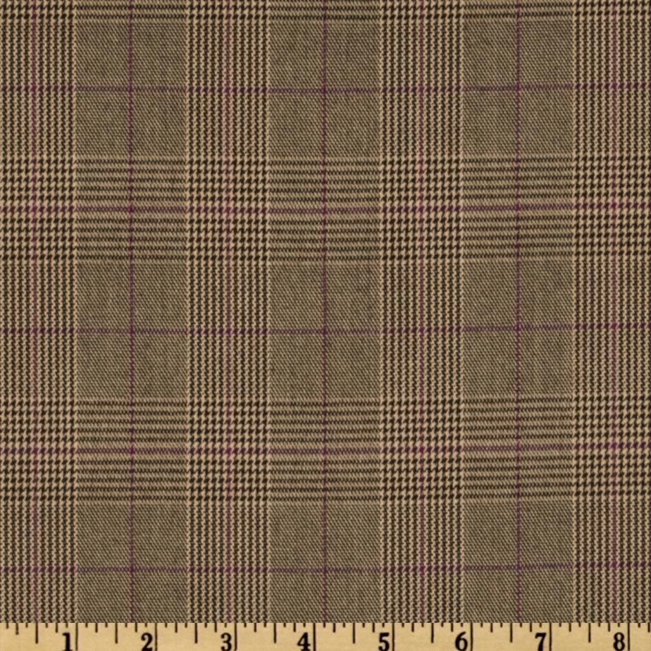 Yarn Dyed Plaid Suiting Brown/Purple