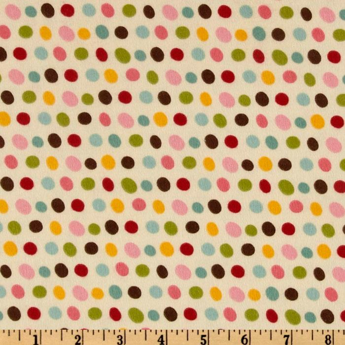 Pretty Paisley Flannel Dots Retro Cream