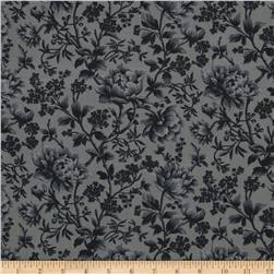Liberty of London Torrington Silk Crepe de Chine Maria Teresa Grey