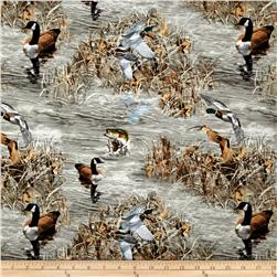 Realtree Ducks and Fish Grey/Brown