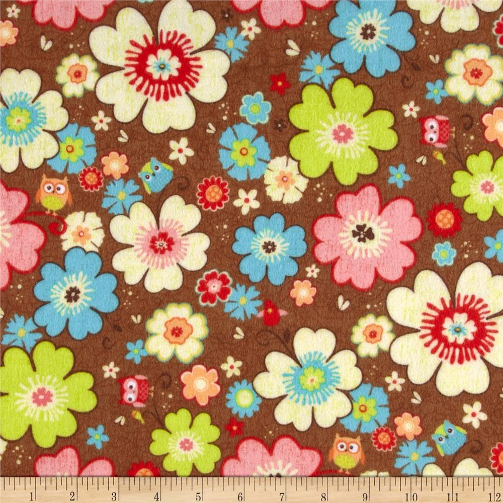 Riley Blake Happy Flappers Flannel Main Brown