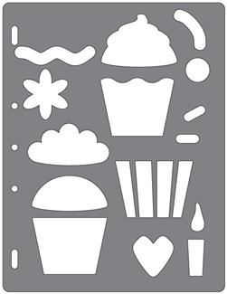 Fiskars Shape Template Cupcakes & More