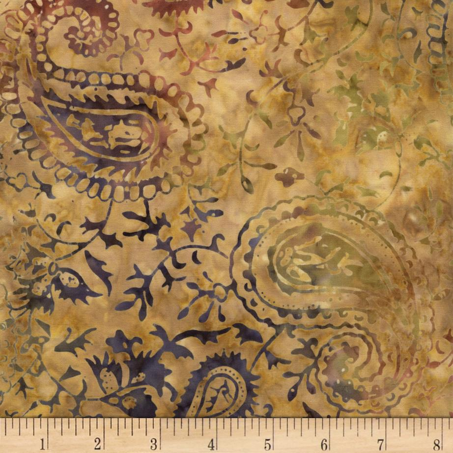 Timeless Treasures Tonga Batik Paisley Camel