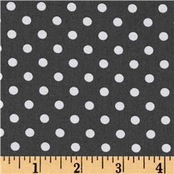 Michael Miller Baby Dumb Dot Charcoal Fabric