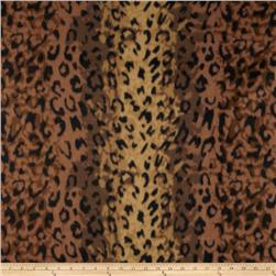 Fleece Leopard Spots Brown