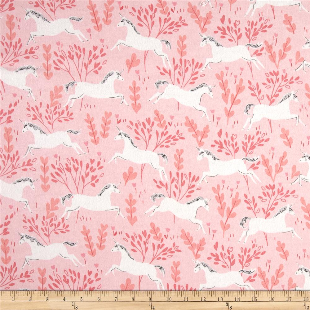 Michael Miller Flannel Sarah Jane Magic Unicorn Forest Blossom
