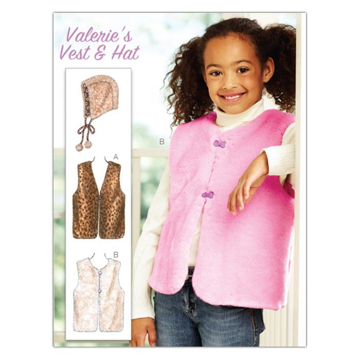 Kwik Sew Girls Valerie's Vest and Hat (3888) Pattern