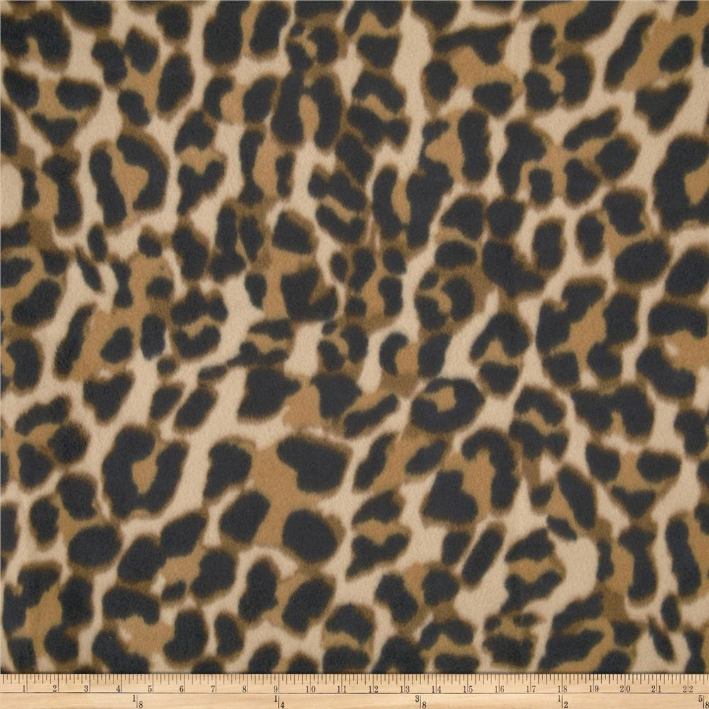 Printed Fleece Leopard Cream/Black