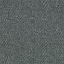 Stonewashed Linen Steel Grey Fabric