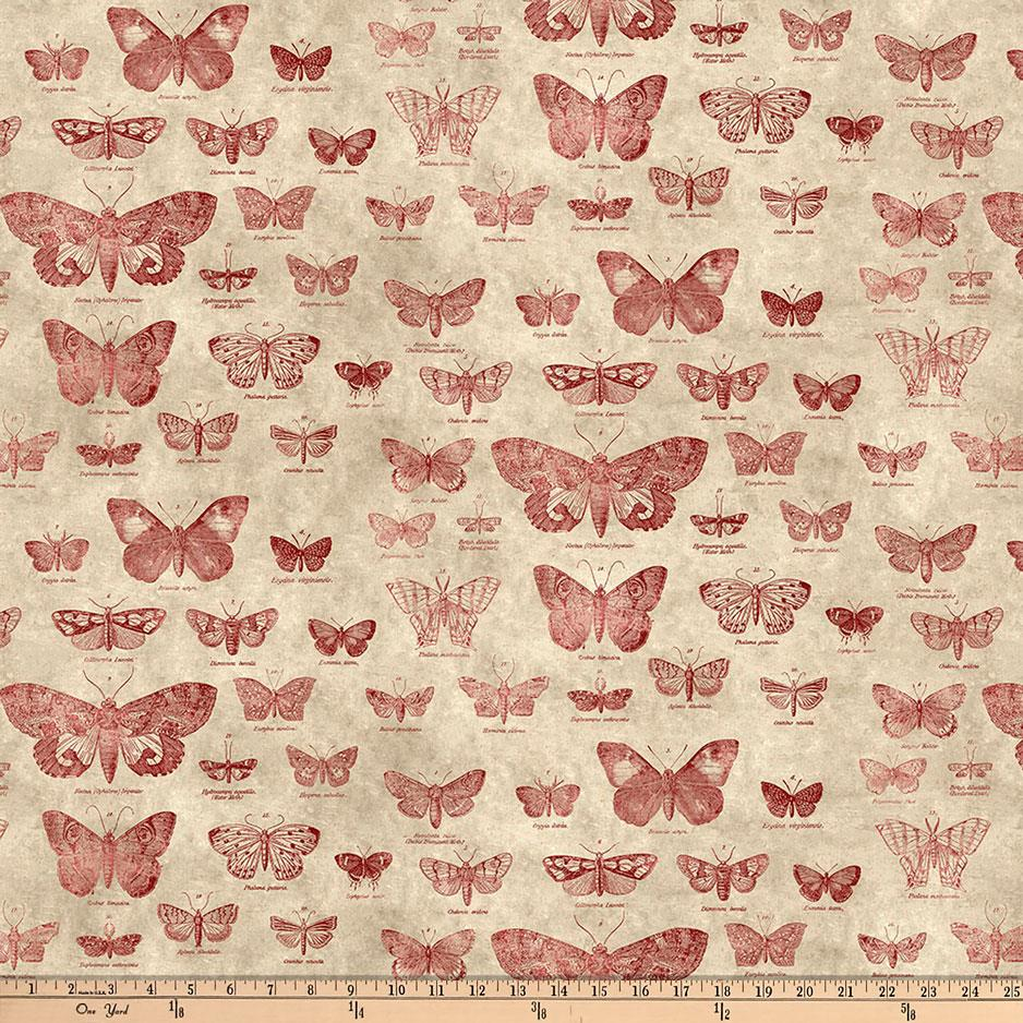 Tim Holtz Eclectic Elements Butterflight Red