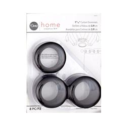 Curtain Grommets 8 Pack Matte Black