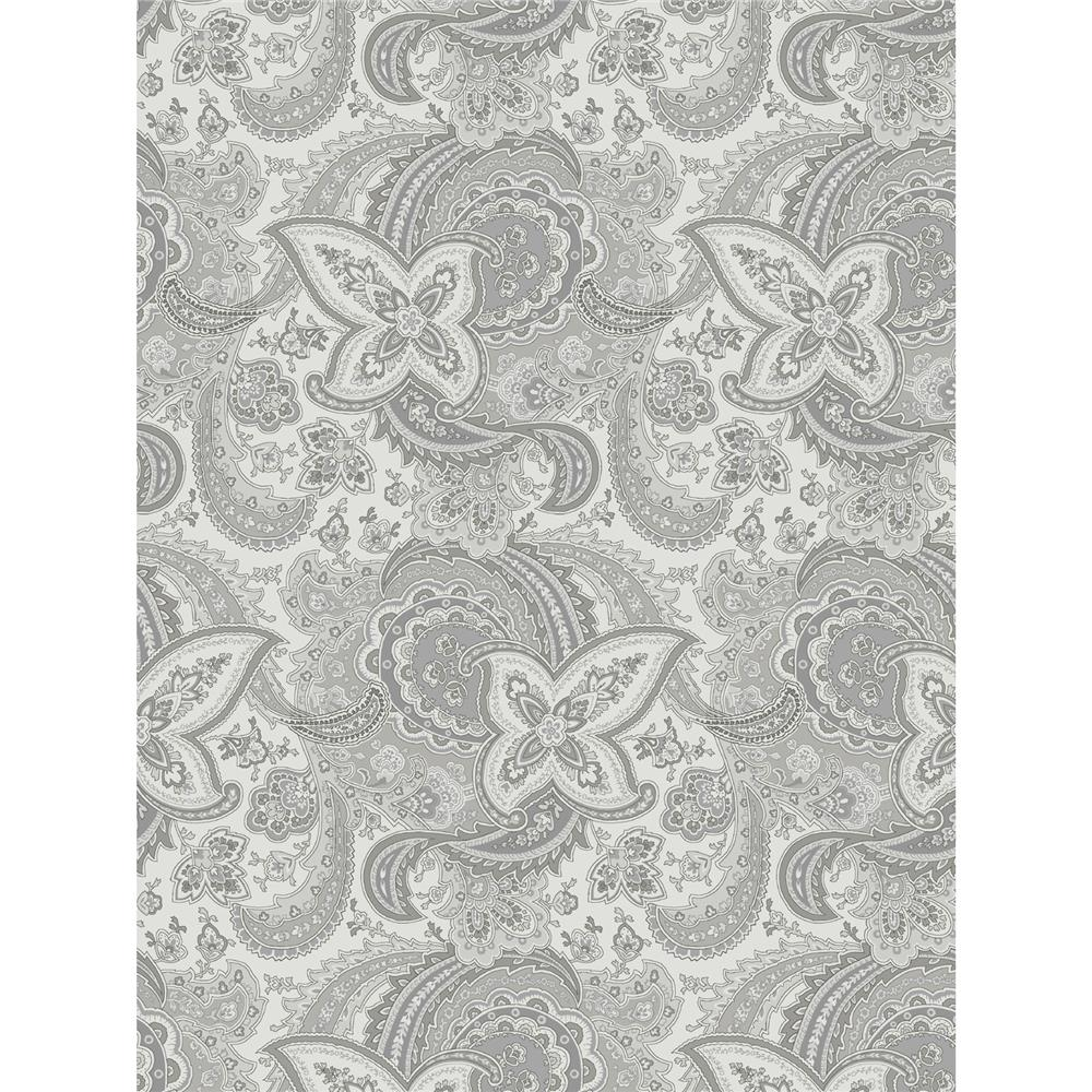 Grey Skies Large Paisley Tonal Grey