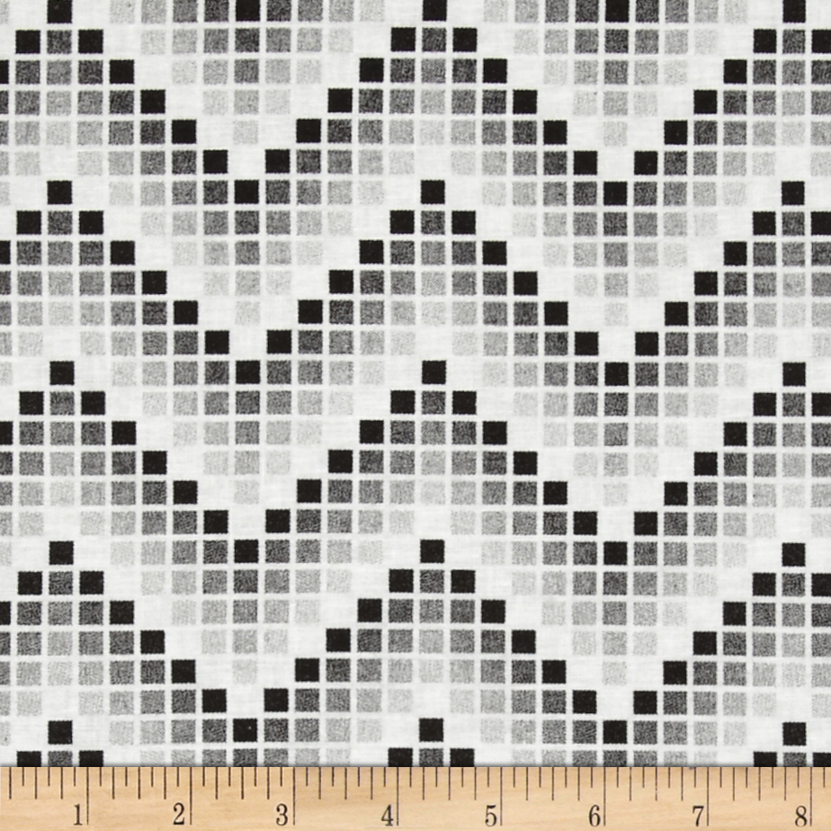 Mosaic Chevron Black Fabric
