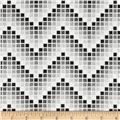 Mosaic Chevron Black