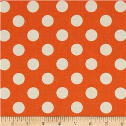 Riley Blake Le Creme Basics Medium Dots Orange/Cream
