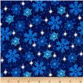 Snowy Christmas Glitter Snowflakes Navy
