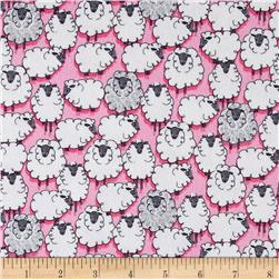 Michael Miller Flannels Sheepish Pink