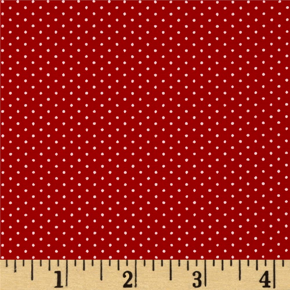 Kaufman Sevenberry Petite Basics Mini Dot Red