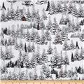 Home For The Holiday Pine Tree Scenic Dark Gray