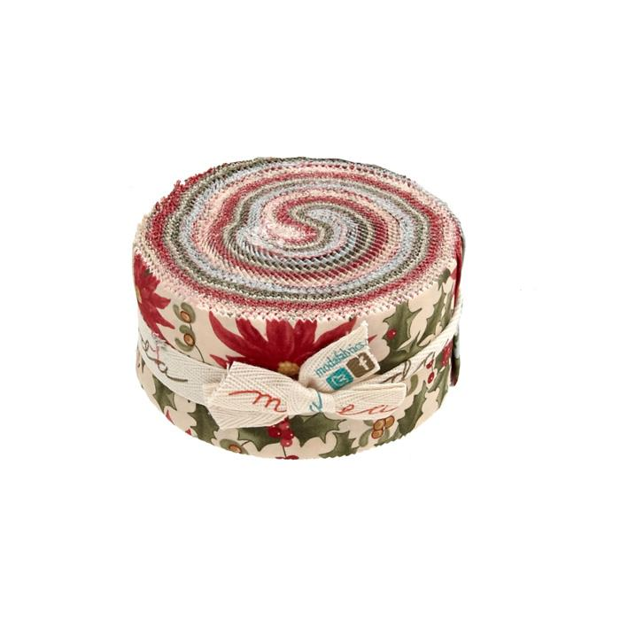 Moda Under the Mistletoe 2.5 In. Jelly Roll Multi