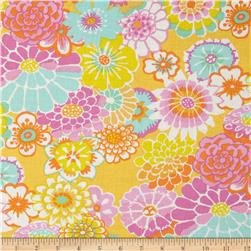 Kaffe Fassett Collective Asian Circles Yellow Fabric