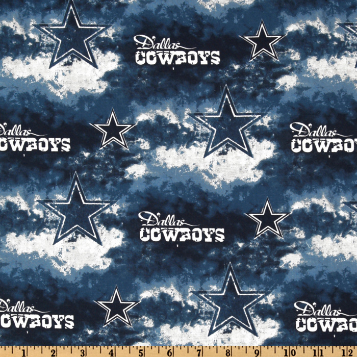 NFL Cotton Broadcloth Dallas Cowboys Blue Fabric
