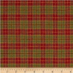 Primo Plaids Christmas Flannel Tiny Plaid Green