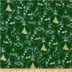 Season's Greetings Ornaments Green