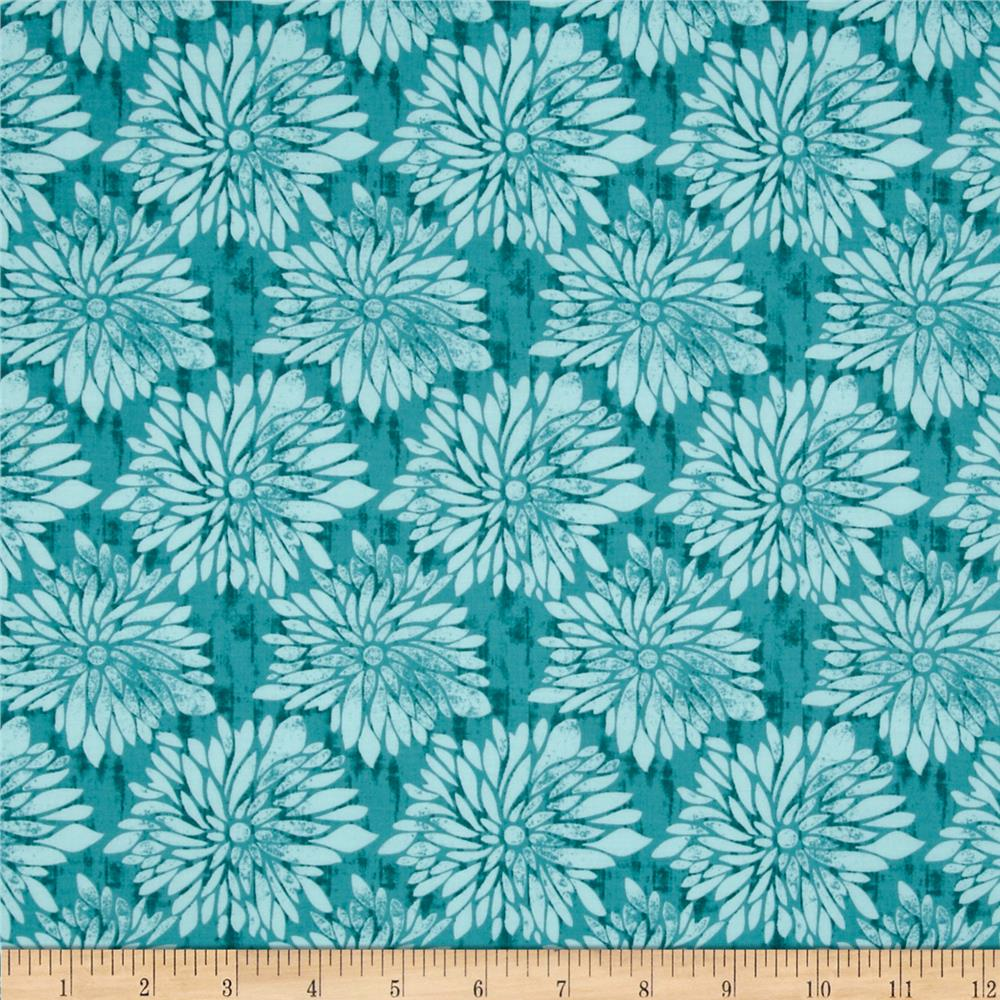 Ty Pennington Home Decor Impressions Dahlia Teal