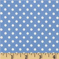 Aunt Grace Dots Blue Fabric