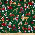 Kanvas Holiday Christmas Novelty Christmas Dog Green