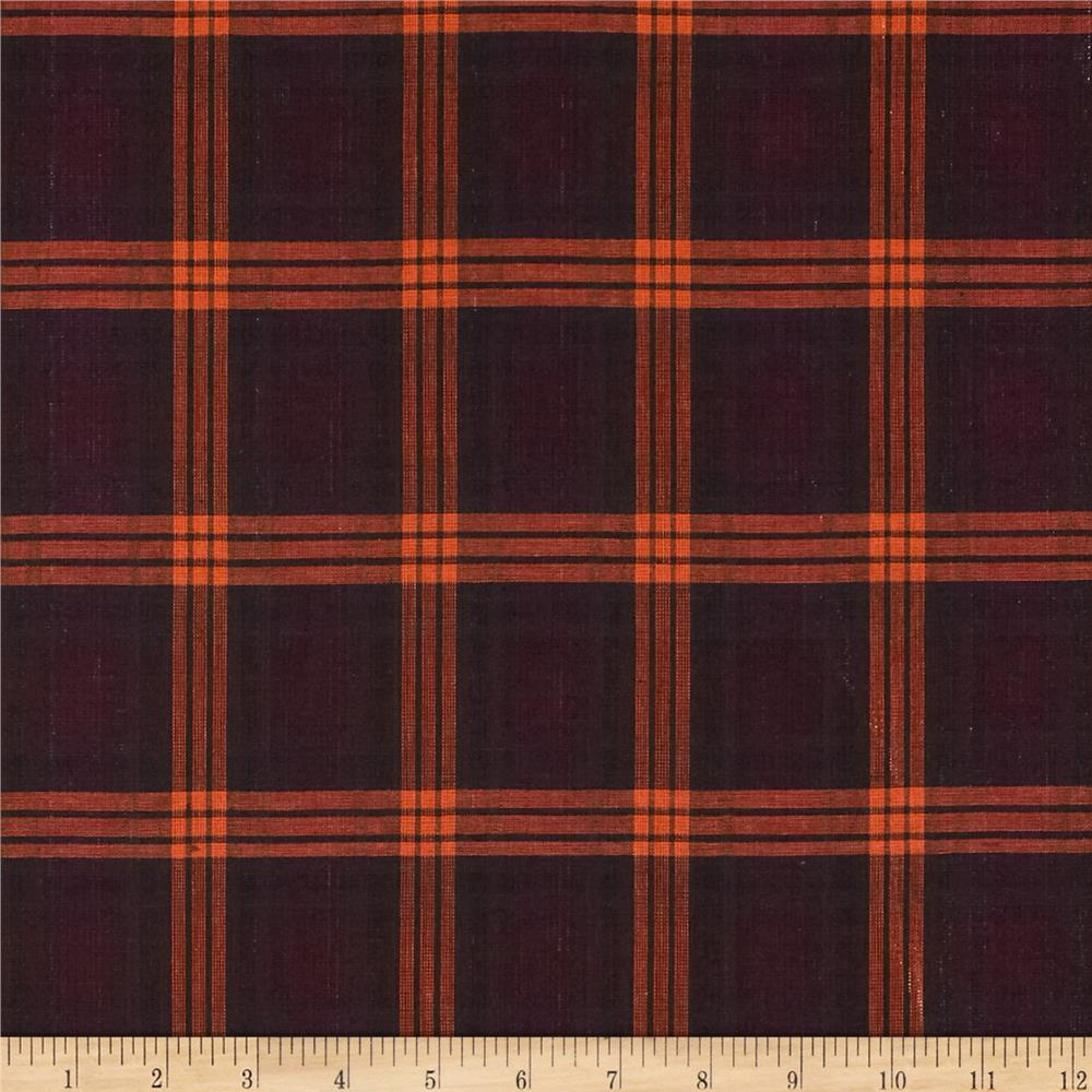 Holiday Blitz Large Plaid Fuchsia/Orange Fabric