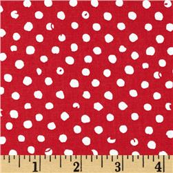 Small Dots Red/White