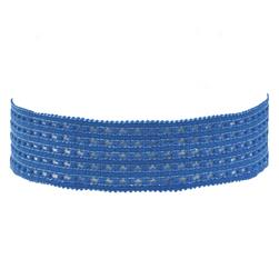 1-3/8'' Stretch Perforated Headbands Blue